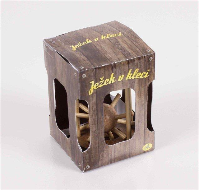 ALBI Ježek v kleci dřevěný - Albi
