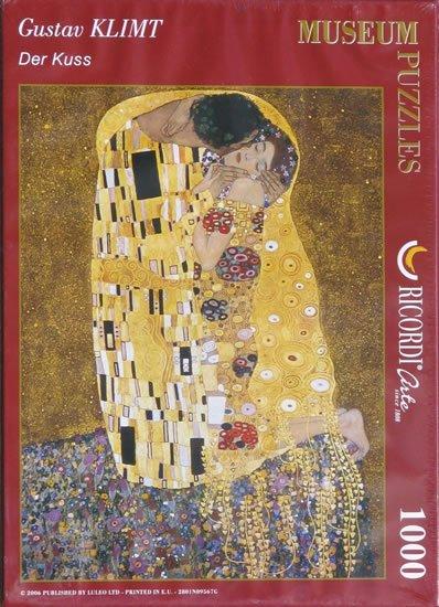 Klimt Gustav: Polibek - Puzzle/1000 dílků