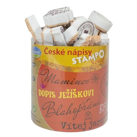 Aladine razítka StampoScrap - české nápisy
