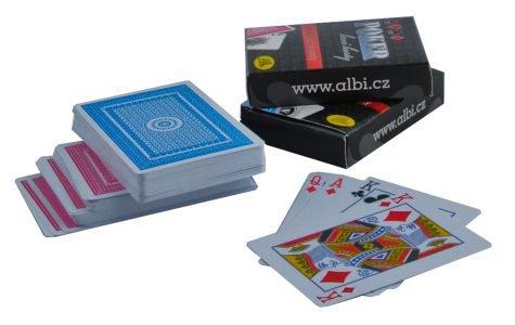 ALBI Poker - karty červené - Albi