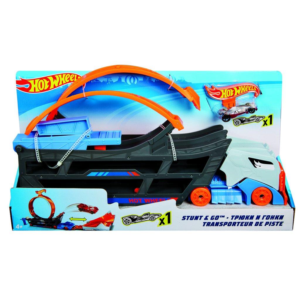 Hot Wheels tahač a pojízdná dráha - Mattel Hot Wheels