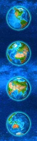 3D záložka Continents