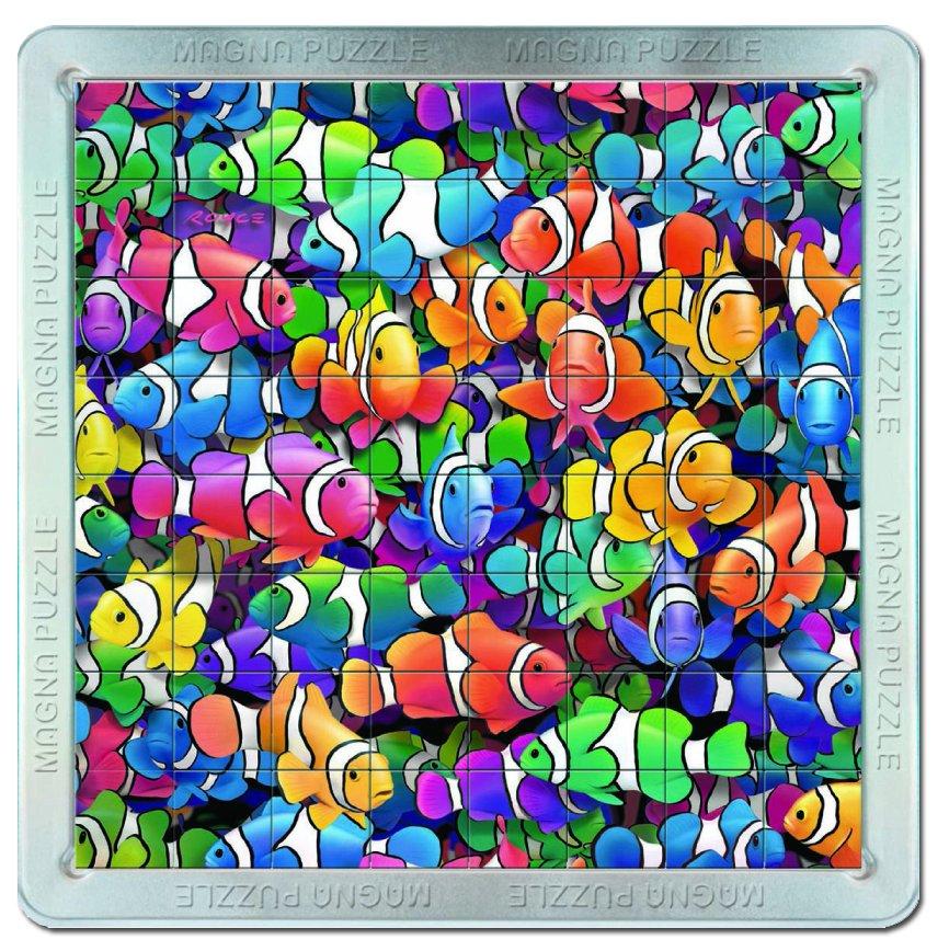 Piatnik 64 d. 3D Magnetické puzzle Rybičky