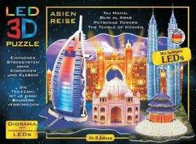 LED 3D Puzzle Cesta po Asii