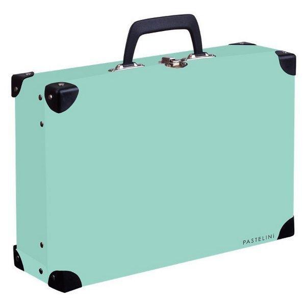 Kufřík lamino hranatý okovaný PASTELINI / zelená