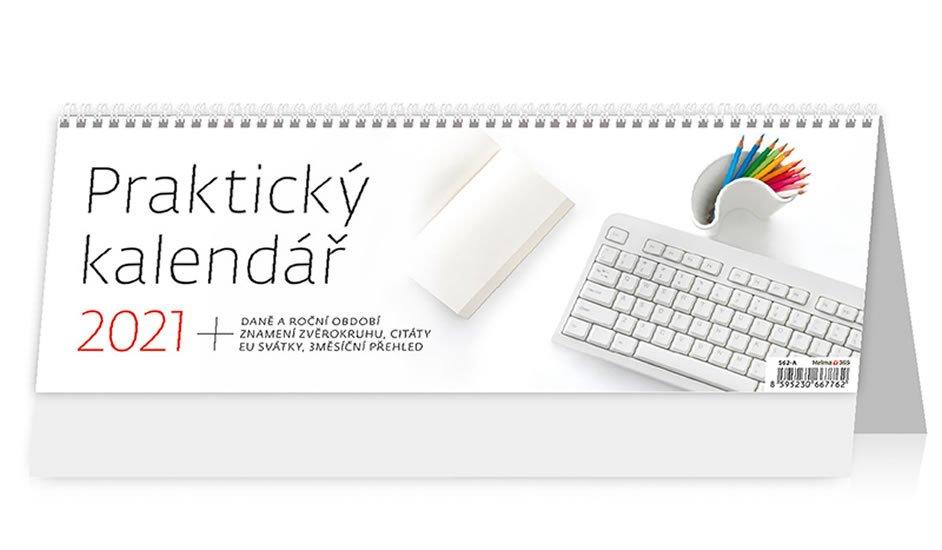 Kalendář 2021 stolní: Praktický kalendář, 336x121