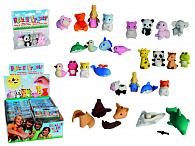 Guma školní puzzle zvířátka 4 ks