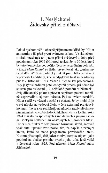 Náhled Hitlerova nenávist k Židům - Klišé a skutečnost