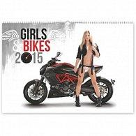 Kalendář 2015 - Girls & Bikes - nástěnný