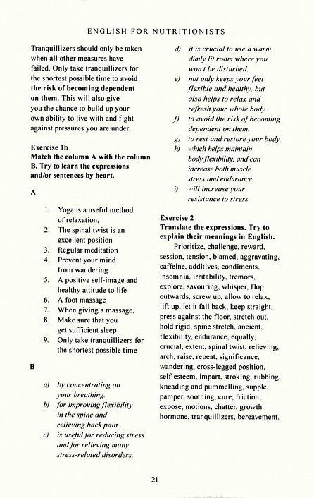 Náhled English for nutritionists (Angličtina pro nutriční terapeuty)