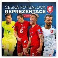 Kalendář poznámkový 2018 - Česká fotbalová reprezentace, 30 x 30 cm