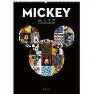 Kalendář nástěnný 2016 - W. D. Mickey Muse,  33 x 46 cm