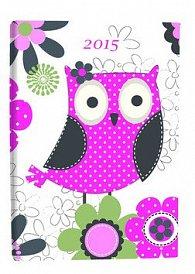 Diář A7 Owl týdenní 2015