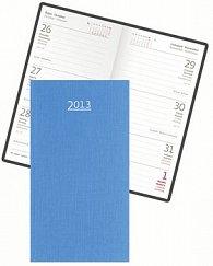 Diář koženkový 2012 - Arizona týdenní kapesní - modrá