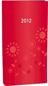 Diář A6 Lyra týdenní Red Flowers 2012
