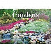 Kalendář nástěnný 2017 - Zahrady