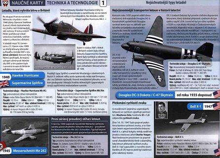 Náhled Nejúchvatnější typy letadel - Naučné karty