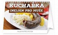 Kalendář stolní 2016 - Kuchařka (ne)jen pro muže,  23,1 x 14,5 cm