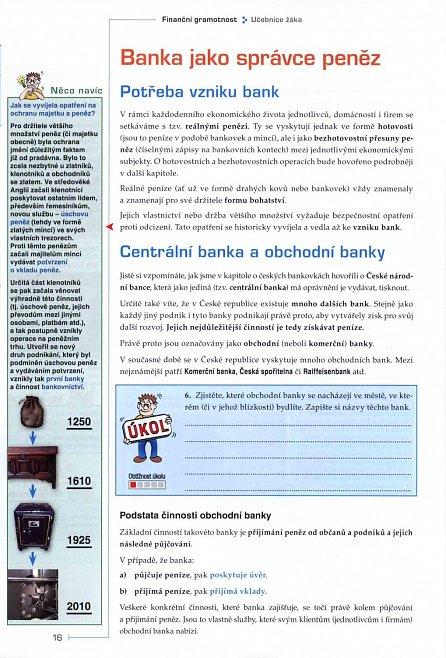 Náhled Finanční gramotnost - učebnice