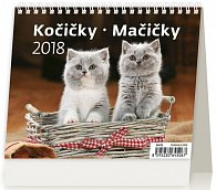 Kalendář stolní 2018 - MiniMax/Kočičky