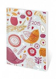 Diář 2015 - Poketto kapesní - Floral