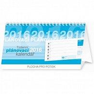 Kalendář stolní 2016 - Plánovací řádkový,  25 x 12,5 cm