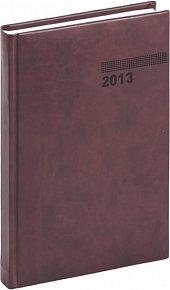 Diář 2013 - Tucson-Vivella - Denní A5, mahagonová, 15 x 21 cm