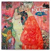 Kalendář poznámkový 2018 - Gustav Klimt, 30 x 30 cm