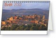Kalendář stolní  2012 - Svět, 23,1 x 14,5 cm