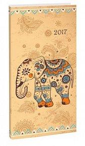 Diář A6 Elephant týdenní 2017