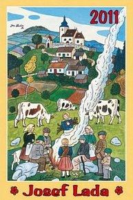 Kalendář 2011 - Josef Lada - Na pastvě (33x46) nástěnný