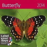 Kalendář 2014 - Butterfly - nástěnný