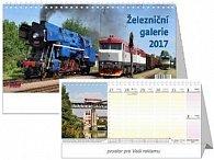 Železniční galerie 2017 - stolní kalendář