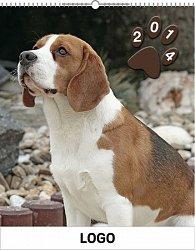 Kalendář 2014 - Psi Praktik - nástěnný s prodlouženými zády