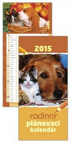 Rodinný plánovací kalendár 2015 Zvieratká