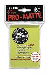 UltraPRO: 50 DP PRO Matte obaly - jasně žlutá