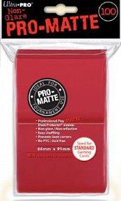 UltraPro: Pro-Matte DP Sleeves - červená
