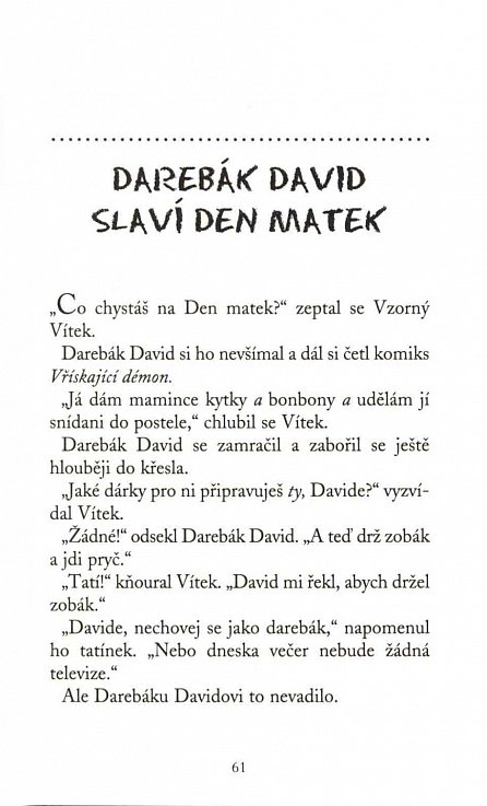 Náhled Darebák David má noční můru