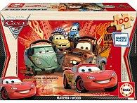 Dřevěné puzzle Cars 2 100 dílků