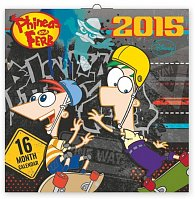 Kalendář 2015 - W. Disney Phineas & Ferb - nástěnný (CZ, SK, HU, GB)