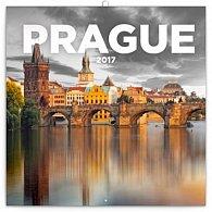 Kalendář poznámkový 2017 - Praha černobílá