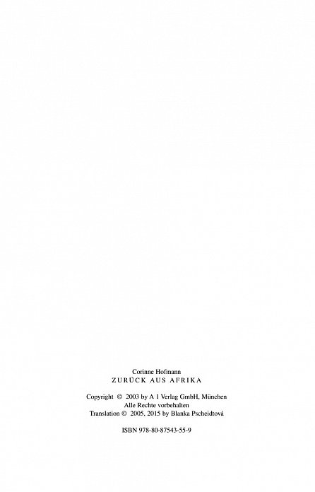 Náhled Zpátky z Afriky - 3. vydání