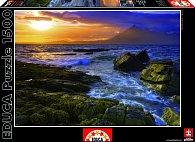 Puzzle Západ slunce na pobřeží 1500 dílků