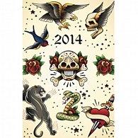 Diář 2014 - Tattoo - Týdenní magnetický (ANG, NĚM, FRA, ITA, ŠPA, HOL)