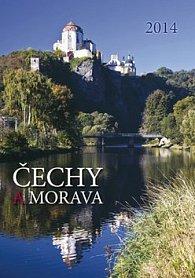 Čechy a Morava - nástěnný kalendář 2014
