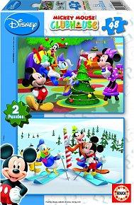 Puzzle Mickey Mouse, 2x48 dílků