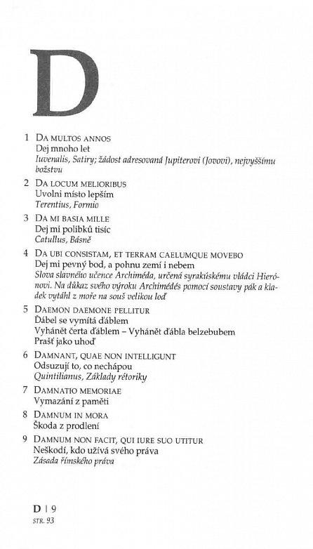 Náhled Slovník latinských citátů - 4328 citátů s českým překladem a výkladem