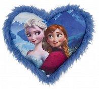 Polštářek Ledové království srdce modré