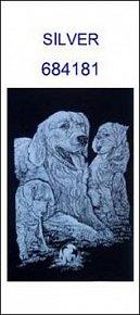 Škrabací obrázek A5 pes SILVER