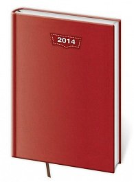 Diář 2014 - denní A5 Jeans - červená